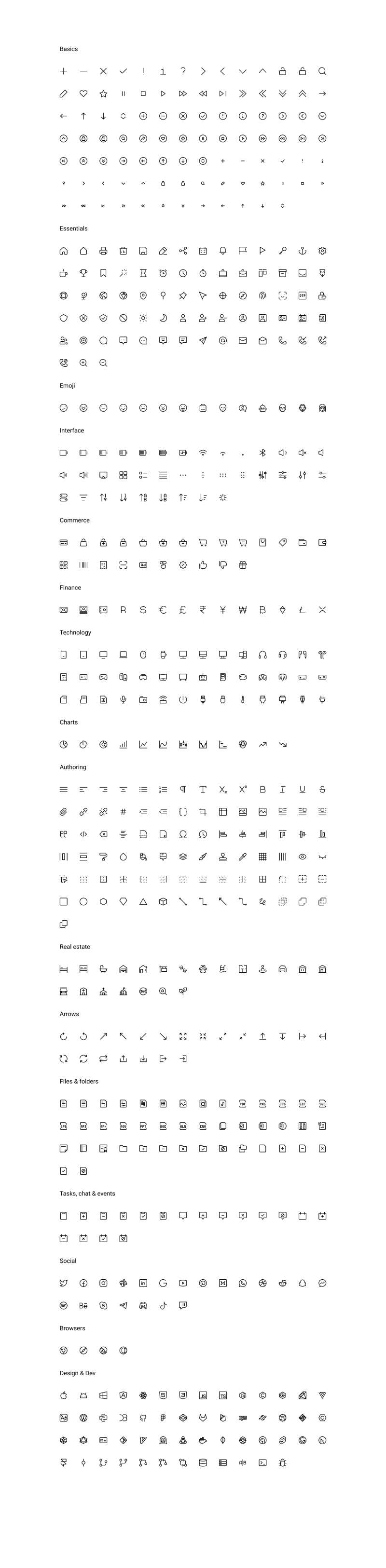 Teenyicons - Free Icon Set for Figma
