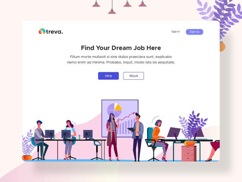 Treva - Job Hiring Platform Exploration (Sketch Freebie)