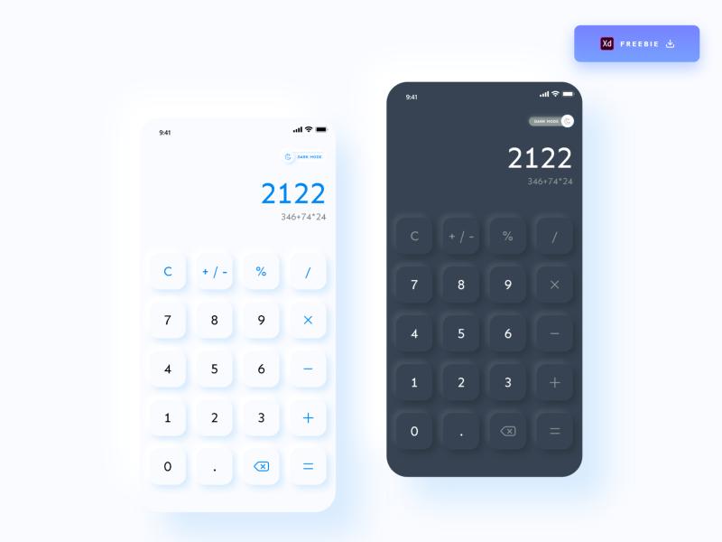 XD calculator vector illustration